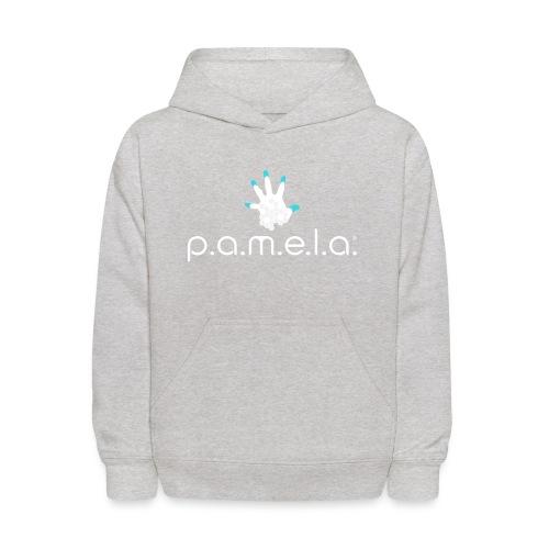 P.A.M.E.L.A. Logo White - Kids' Hoodie