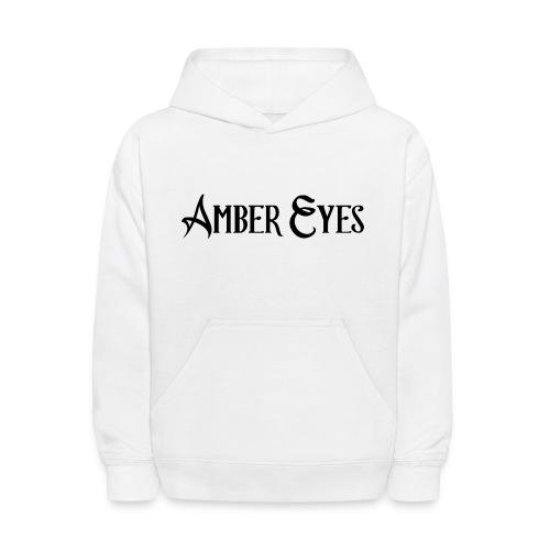 AMBER EYES LOGO IN BLACK - Kids' Hoodie