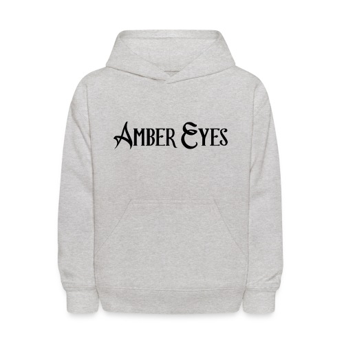 AMBER EYES LOGO IN BLACK - Kids' Hoodie