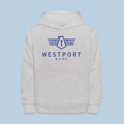 Westport Band Blue on transparent - Kids' Hoodie