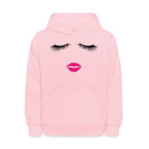 Lipstick and Eyelashes - Kids' Hoodie
