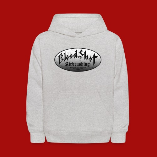 BloodShot Logo Black/White - Kids' Hoodie