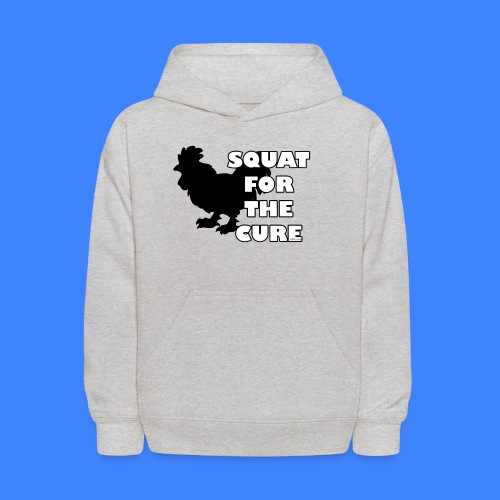 Squat For The Cure (female) - Kids' Hoodie