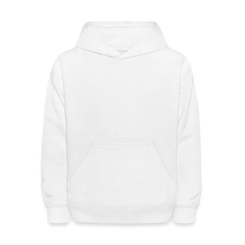 white logo transparent background - Kids' Hoodie