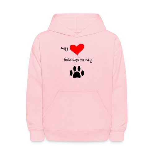 Dog Lovers shirt - My Heart Belongs to my Dog - Kids' Hoodie