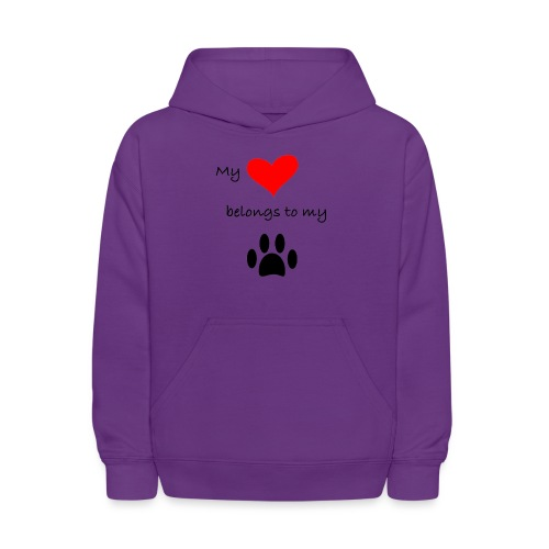 Dog Lovers shirt - My Heart Belongs to my Dog - Kids' Hoodie