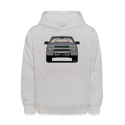 Design Icon: American Bowtie Silver Urban Truck - Kids' Hoodie
