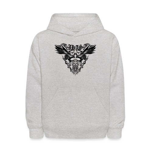 Vintage JHAS Tribal Skull Wings Illustration - Kids' Hoodie