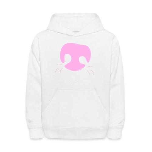 Pink Whimsical Dog Nose - Kids' Hoodie
