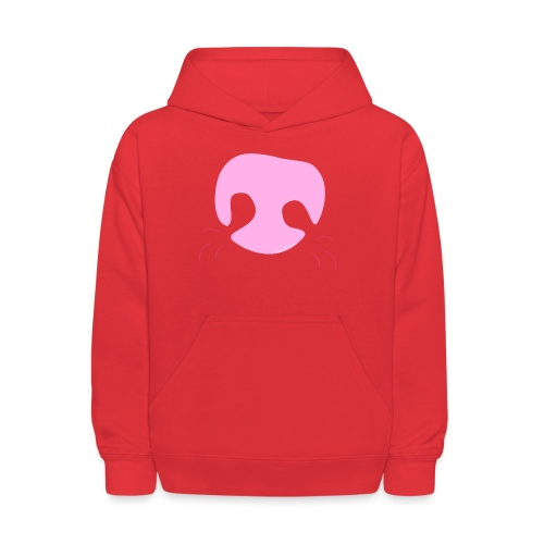Pink Whimsical Dog Nose - Kids' Hoodie