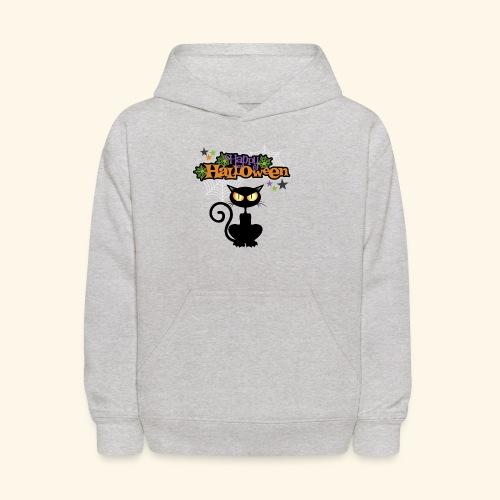 happy holloween BLACCK CAT TEE - Kids' Hoodie