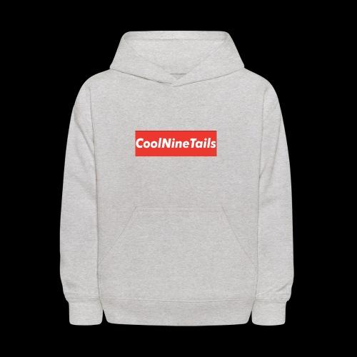 CoolNineTails supreme logo - Kids' Hoodie