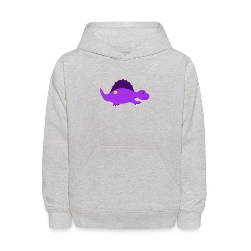 Cute Purple Stegosaurus - Kids' Hoodie