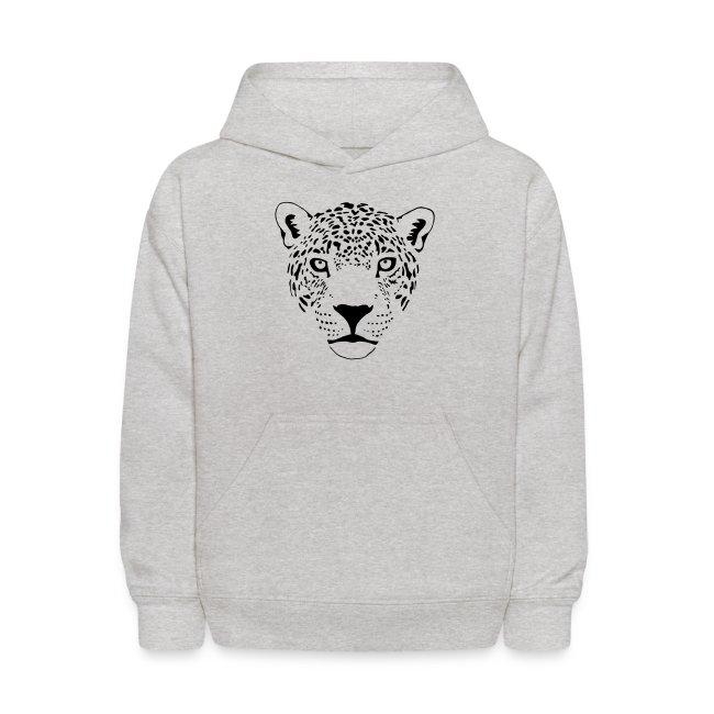 léopard jaguar puma fauve prédateur chat tigre   Molleton à capuche pour enfants
