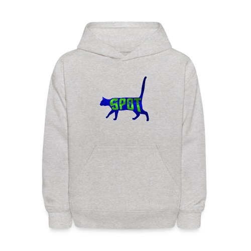 Data's Cat Spot (Blue and Green) - Kids' Hoodie