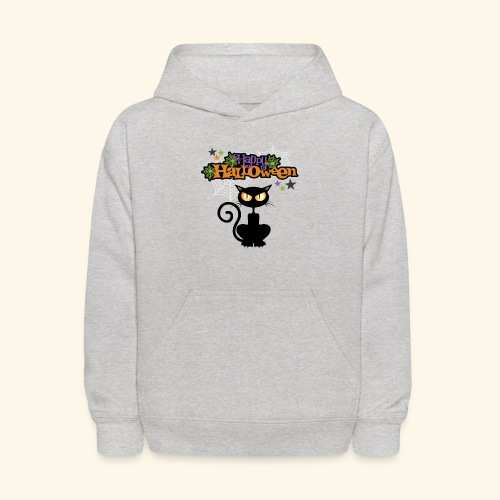 happy holloween BLACCK CAT TEE - Kids' Hoodie