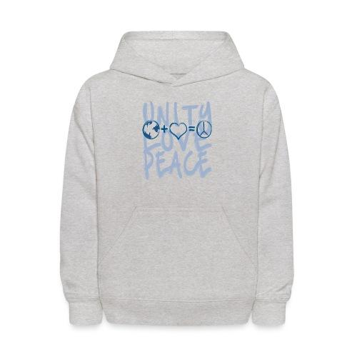 Unity Love Peace - Kids' Hoodie