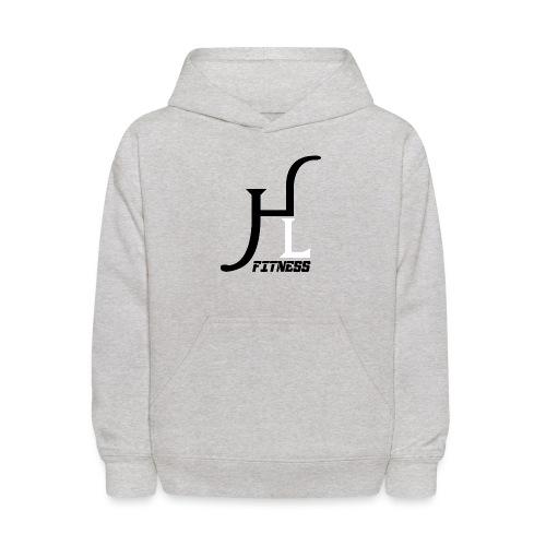 HIIT Life Fitness logo white - Kids' Hoodie