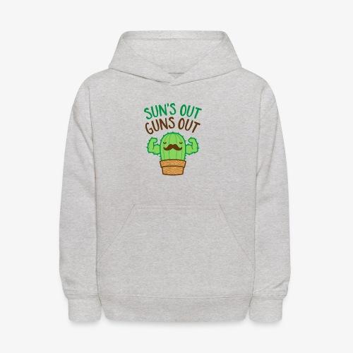 Sun's Out Guns Out Macho Cactus - Kids' Hoodie