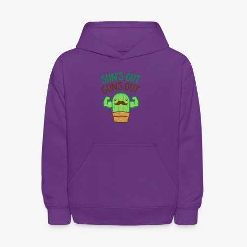 Sun's Out Guns Out Macho Cactus - Kids' Hoodie