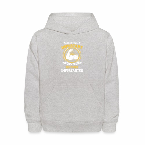 Workout is Important - Kids' Hoodie