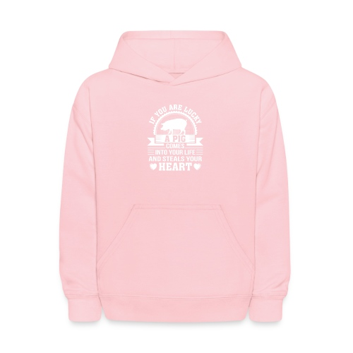Mini Pig Comes Your Life Steals Heart - Kids' Hoodie