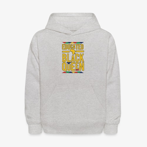 Dashiki Educated BLACK Queen - Kids' Hoodie
