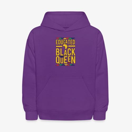 Dashiki Educated BLACK Queen - Kids' Hoodie