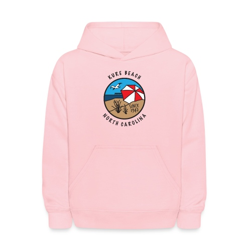 Kure Beach Day-Black Lettering-Front Only - Kids' Hoodie