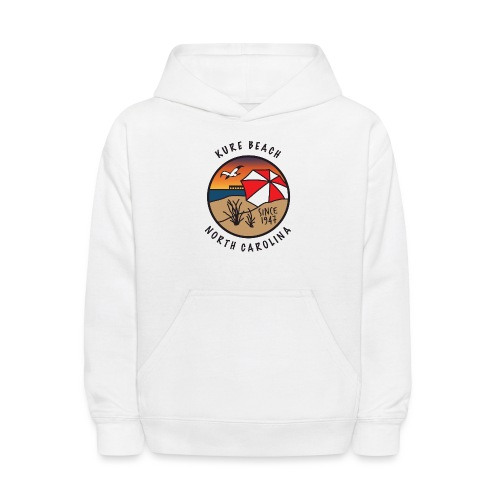 Kure Beach Sunrise-Black Lettering-Front Only - Kids' Hoodie