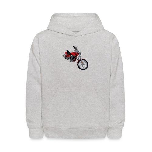 Motorcycle red - Kids' Hoodie