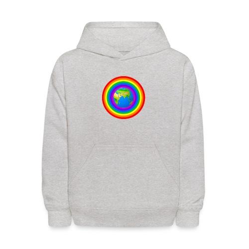 Earth rainbow protection - Kids' Hoodie