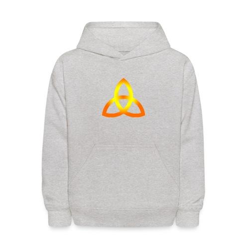 triquetra orange - Kids' Hoodie