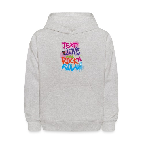 Text Love and Rock n Roll - Kids' Hoodie