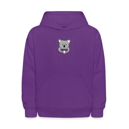 Print With Koala Lying In A Bed - Kids' Hoodie