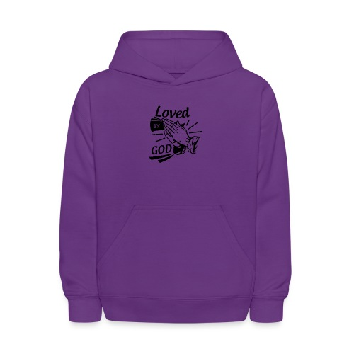 Loved By God (Black Letters) - Kids' Hoodie