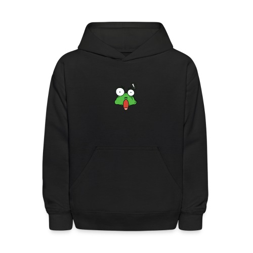 Frog with amazed face expression - Kids' Hoodie