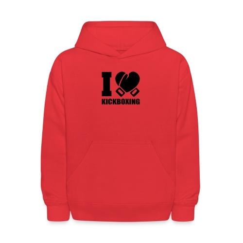 I Love Kickboxing - Kids' Hoodie