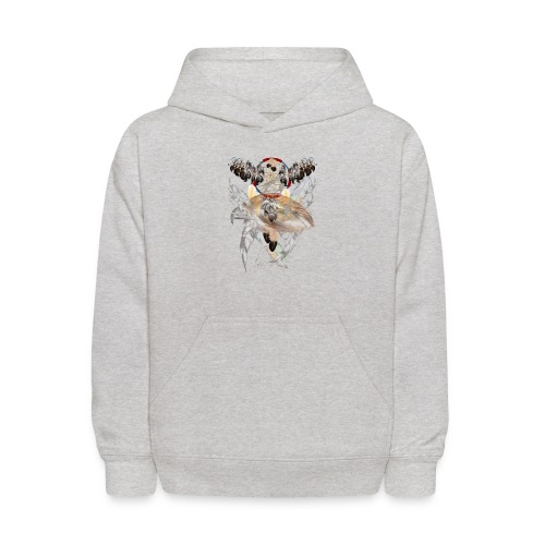 Dream Catcher and Feathers-Hawk Face Shirt - Kids' Hoodie
