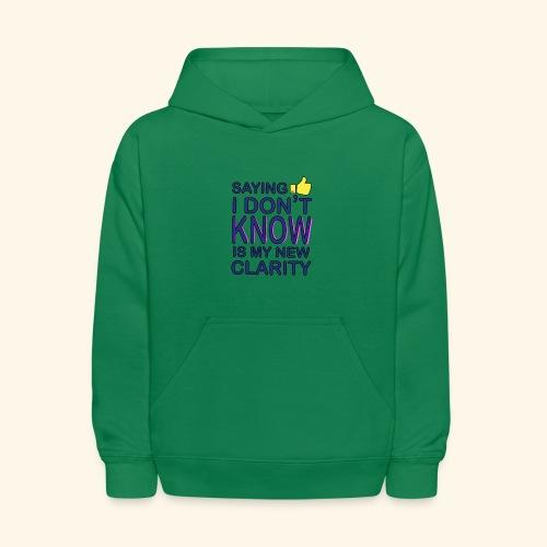 new clarity - Kids' Hoodie