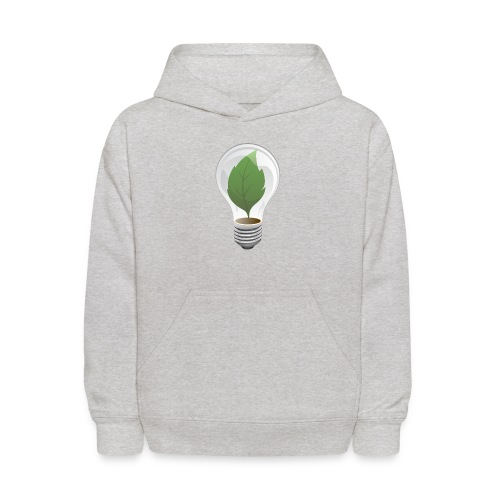 Clean Energy Green Leaf Illustration - Kids' Hoodie