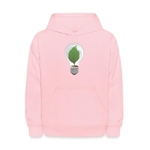 Clean Energy Green Leaf Illustration - Kids' Hoodie