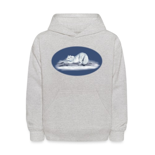 Arctic Fox on snow - Kids' Hoodie