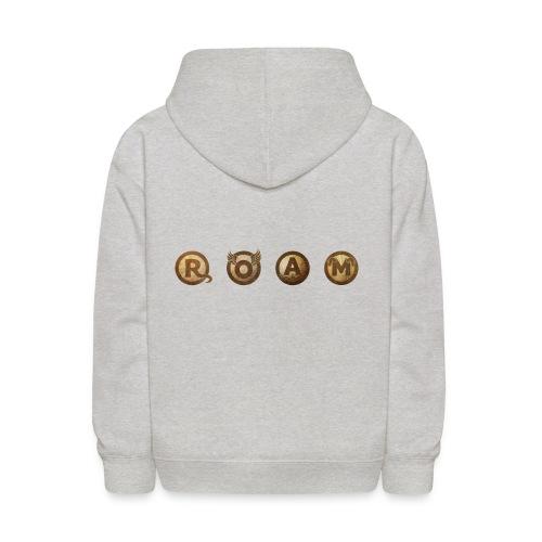 ROAM letters sepia - Kids' Hoodie