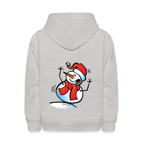Snowman Toppling Over - Kids' Hoodie