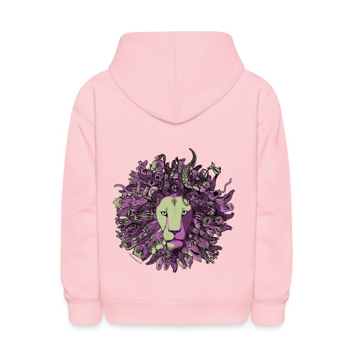 Purple and Green Lion - Kids' Hoodie