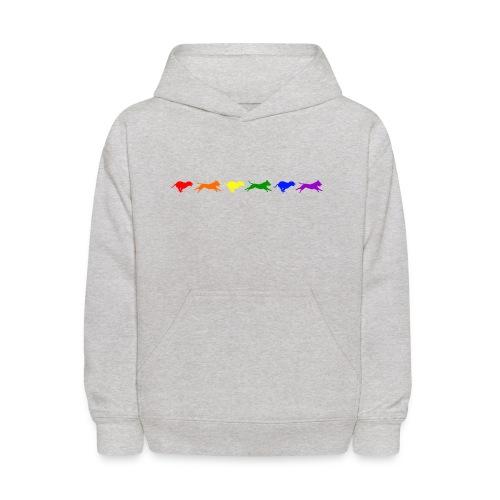 Staffy in Motion- Rainbow - Kids' Hoodie