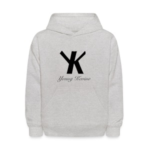 Young Kevino Official Logo (Black) - Kids' Hoodie