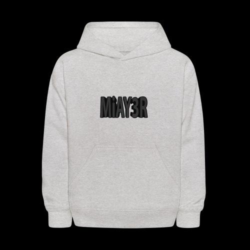 Black MiAY3R Logo - Kids' Hoodie
