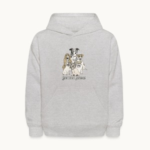 DOGS-SENTIENT BEINGS-white text-Carolyn Sandstrom - Kids' Hoodie